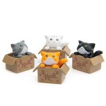 4 pcs lot Hot Sale Action Figures Toys Dolls Angry Cat Animals Cartoon Toys Models Desk