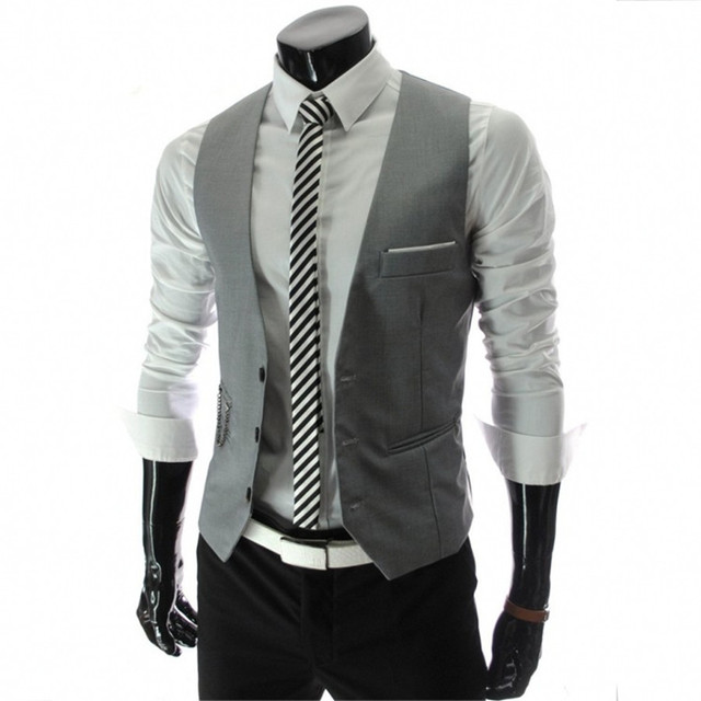 Male Vest Good Quality Eight Colors Multiple Choices Fashion Style Spring Autumn Casual Wear Single Breasted Solid V-neck Cozy