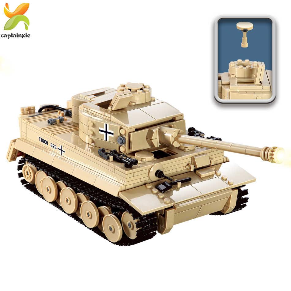 995pcs Tanque King Tiger Alemão Técnica Militar Building Block legoingly WW2 Figura do soldado Do Exército arma Crianças Tijolos Brinquedos Do Menino