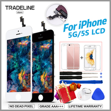 AAA LCD For iPhone 5 6 Screen With Touch Screen Digitizer Assembly Replacement Pantalla For iPhone 6s 7 Display No Dead Pixel