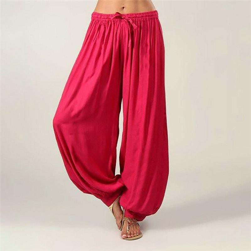 HAREM TROUSERS Genie HIPPY BOHO ALADIN ALIBABA Baggy Pants YOGA Plain Cotton