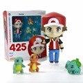 Ash Ketchum Pokeball Figuras de Ação Blastoise pelúcia Charmander Bulbasaur Brinquedos Conjunto Mudança Rosto Mão 425 vermelho