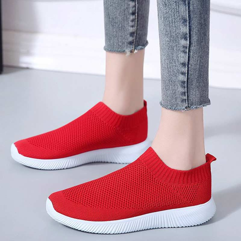 Summer Women Socks Shoes Sneakers Trainers Mesh White Sneakers Vulcanized Shoes Slip-on Tenis Feminino Zapatillas Mujer Casual