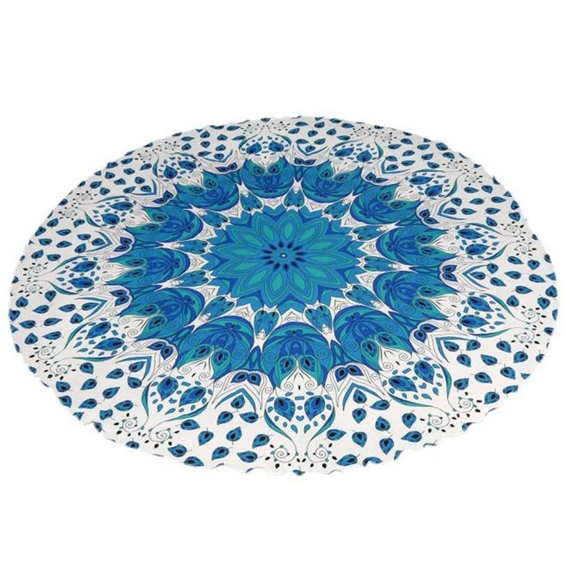 Round Beach Pool Home Shower Towel Blanket Table Cloth Yoga Mat Jun7 Professional High quality Drop Shipping