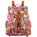 2017 New Arrival 5 Colors Handmade Foliage Leaf Leaves Printing Canvas Backpack Mochila Escolar School Bags for Girls Bagpack