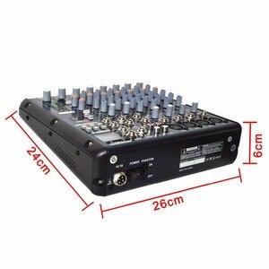 Image 3 - FREEBOSS SMR8 Bluetooth USB Record 8 Channels (4 Mono + 2 Stereo) 16 DSP Effects USB Professional DJ Mixer