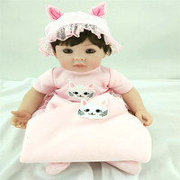 20 inch 50 cm reborn Silicone dolls, lifelike doll reborn Lovely baby boy and girl's holiday gift