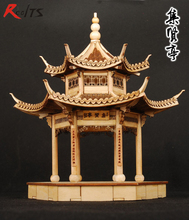 RealTS wooden assembly model kit chinese ancient building model jiangnan xihu jixian pavilion