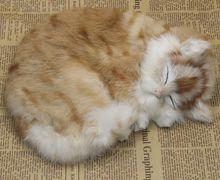 new simulation sleeping cat toy polyethylene & furs handicraft cat doll gift about 25x21cm