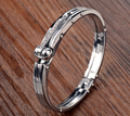 Handcuffs Strap Style New 2016 Stainless Steel Men Jewelry Fashion Bracelets Bangles For Men