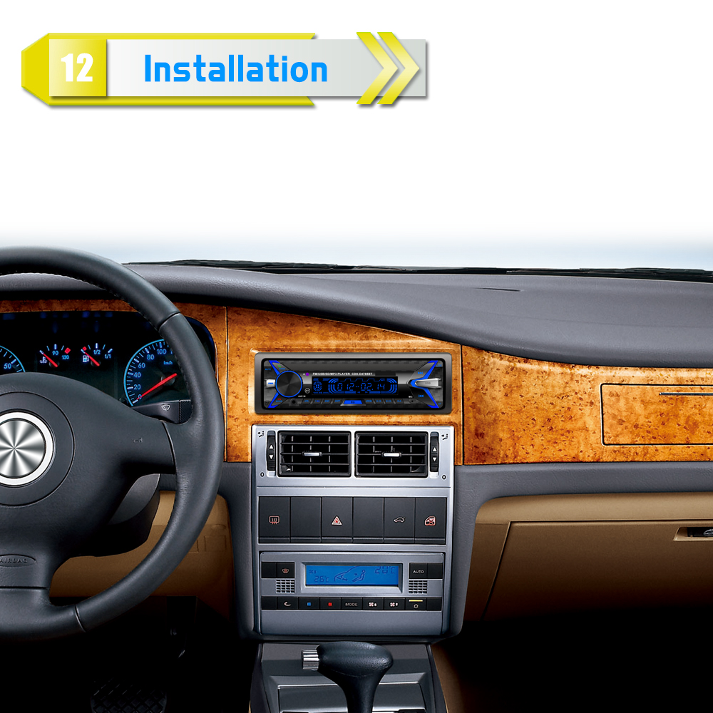 12V 1Din Car Радио Аудио Bluetooth стерео MP3 - Автомобиль электроникасы - фото 2