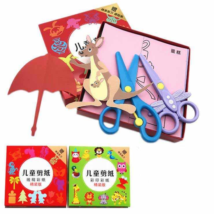 96 Lembar Buatan Tangan Kertas Buku Kerajinan Kertas Anak DIY Buatan Tangan Buku Scrapbooking Kertas Mainan untuk Anak-anak Belajar Mainan Wyq