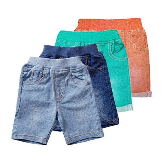 2016 летом хлопковой свободного покроя шорты детей мода джинсовые шорты высокое качество мальчиков и девушка бренд широкий джинсовые шорты для 18 м - 6 т