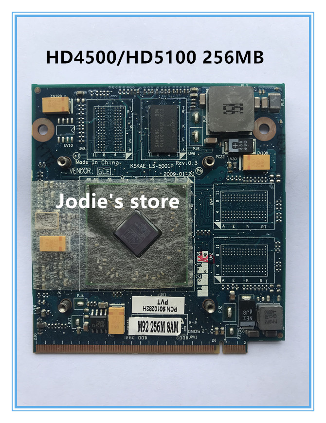 KSKAE LS-5001P HD4650 HD4500 HD5100 Graphic Video Vga Card 256MB For Laptop Toshiba A500 L500 L550