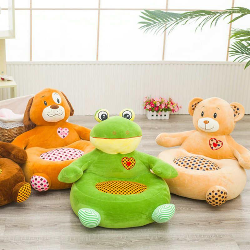 45*45cm Baby Play soft Plush Chair For Baby Learn Sit Baby Chair pillow Play Game cushion sofa Kids Learn Stool toy bath seat dining chair baby inflatable kids sofa baby chair portable baby seat chair play game mat sofa kids inflatable stool