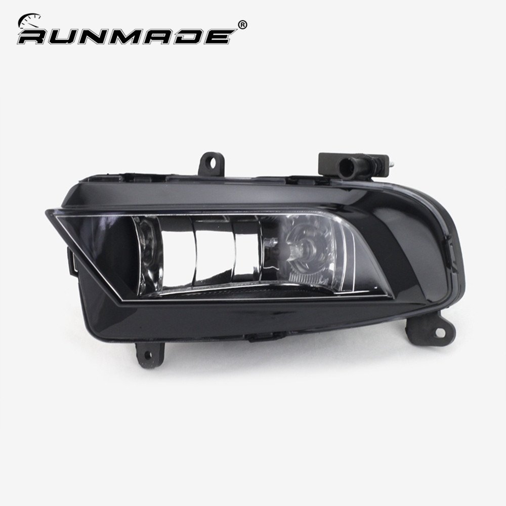 runmade For 2012+ Audi A4 B9 Front Lower Driving Fog Light Left Side With H8 35W 12V Bulbs L8KD 941 699A front lower side cooling air grille for audi a6 c6 facelifted 09 10