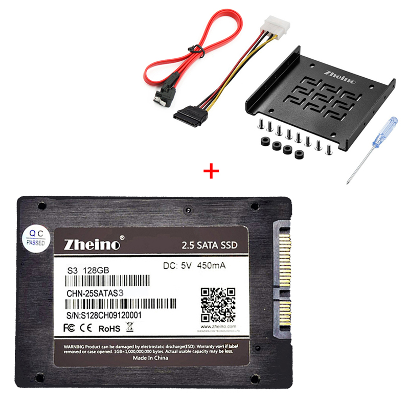Zheino SATAIII SSD 120 GB 240 GB 360 GB 480 GB 960 GB 128 GB 256GB 512 GB SSD de aluminio adaptador de montaje de soporte para escritorio