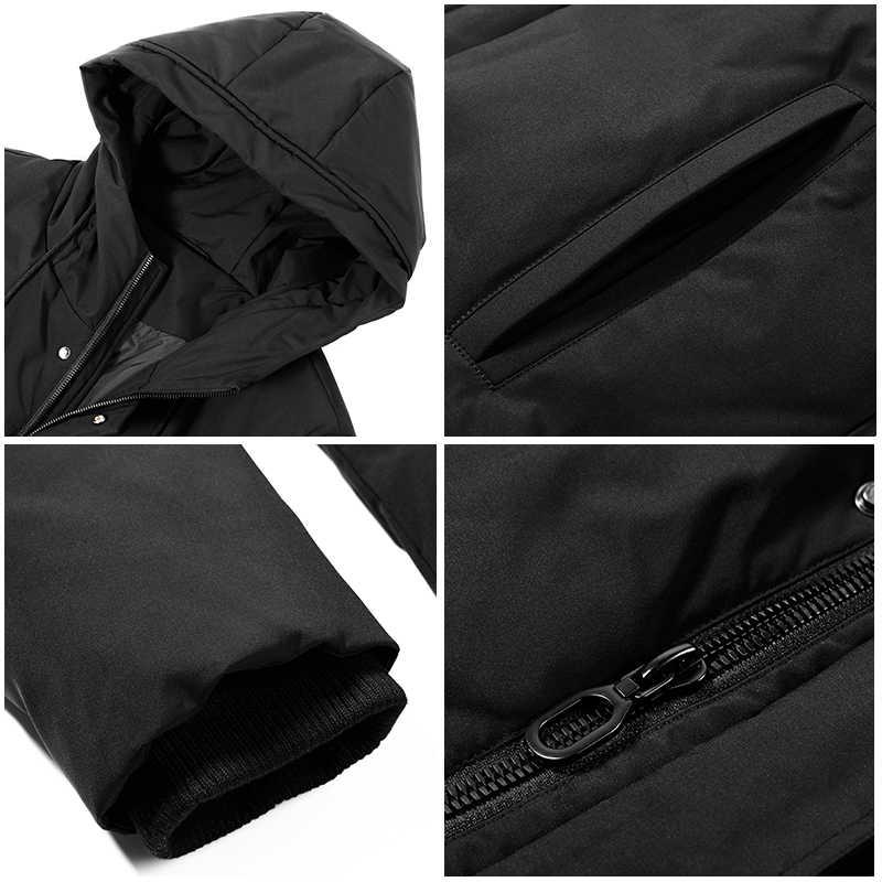 Pioneer Camp новая длинная Парка мужская брендовая одежда Толстая теплая зимняя куртка мужская Высококачественная хлопковая стеганая куртка мужская AMF801455