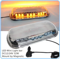 Higher star 32W 40cm Led car warning lightbar,emergency lights with Cigarette lighter for police ambulance fire,waterproof