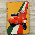Vintage metal painting retro metal tin sign 20cm*30cm art posters Old Vespa wall stickers home cafe bar pub wall decor