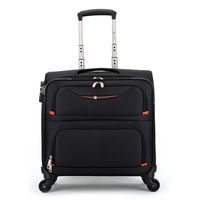 Letrend Business Cabin Rolling Luggage Spinner 16 inch Oxford Carry On Trolley Travel Luggage Men password Suitcases Wheels