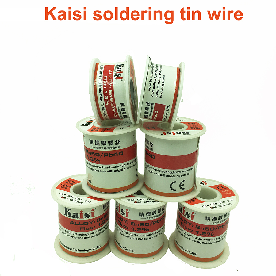 Kaisi Solder Wire Soldering Soder Tin Wire 0.3mm 150g   Welding Tin Wire For Soldering SMT BGA