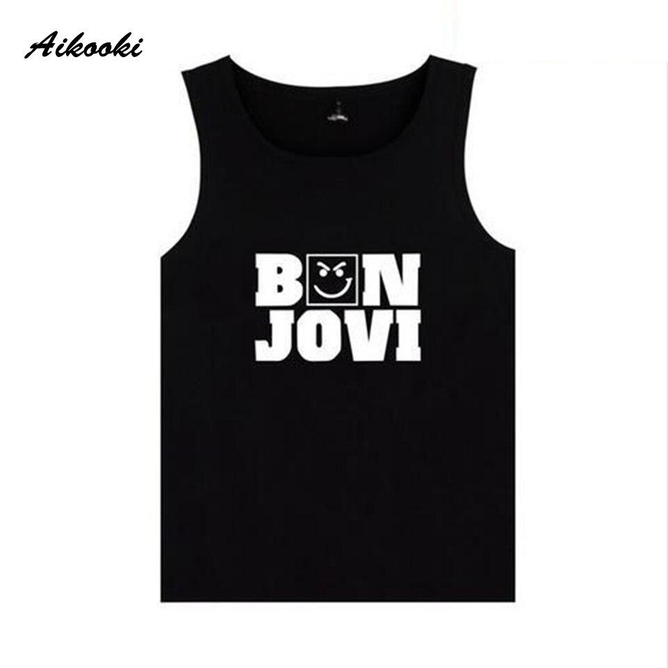 Bon Jovi Vest Men's/Women's Casual Sleeveless   Tank     Tops   Men 2018 Breathable Summer Vest Men Harajuku Fashion Bon Jovi   Tank     Tops
