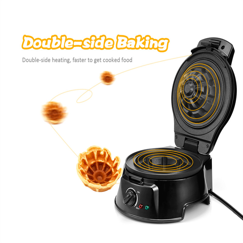 SW - 258W HouseholdEgg Waffle Maker Belgian Bowl Breakfast Sandwich Waffle Maker Electric Household actory wholesale electric rotating commercial waffle maker 220v waffle maker price belgian waffle maker