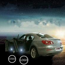 JURUS 2pcs LED Welcome lights general drilling laser light for Honda for Toyota logo projection door