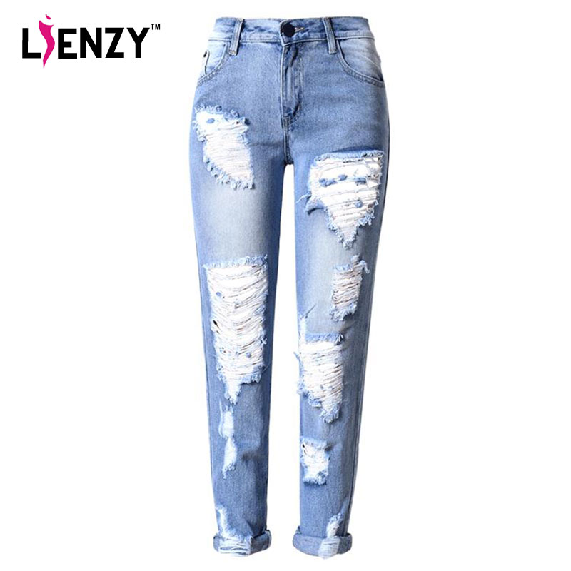 Aliexpress.com : Buy LIENZY American Apparel Ripped Boyfriend ...
