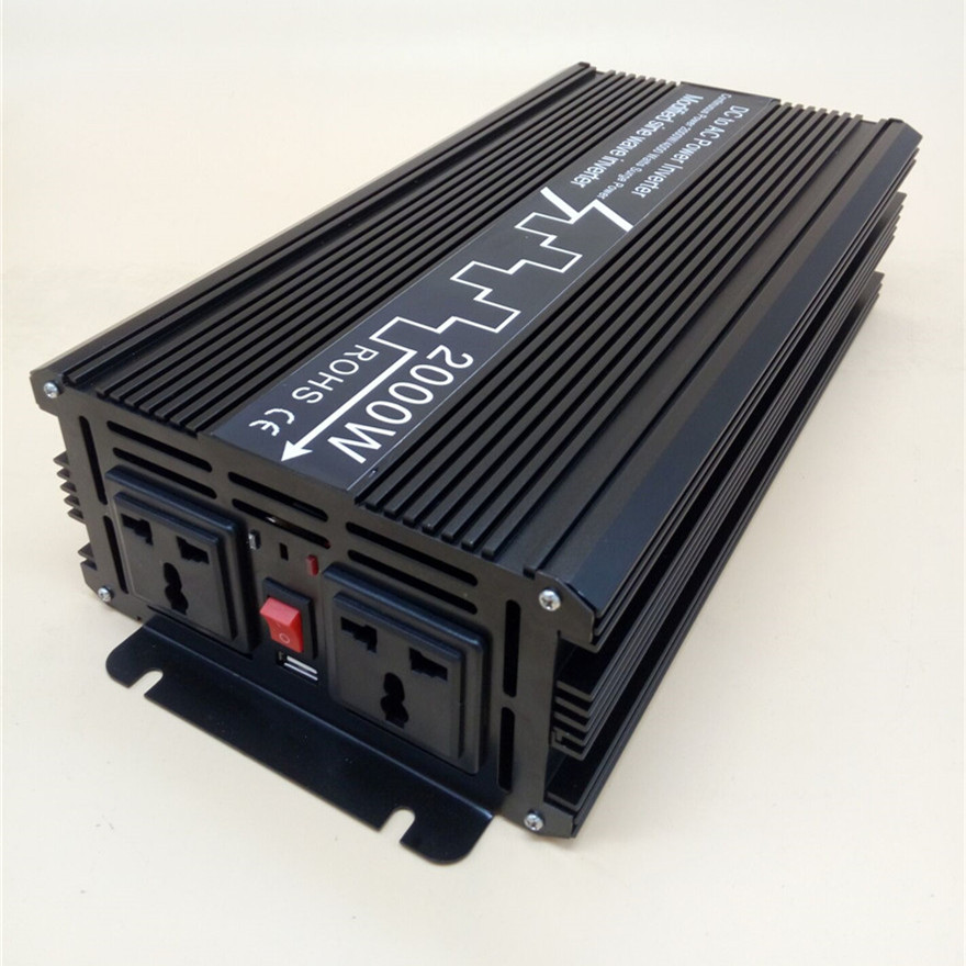 2000W/4000W Modified Sine Wave Inverter DC 12V 24V 48V to AC 110V 220V,Off Grid Inversor Portable 2000W/4000W Power Inverter free dhl fedex ups express 2000w power inverter 4000w peak power 12v to 220v or 24v to 220v or 48v to 220v power inverter