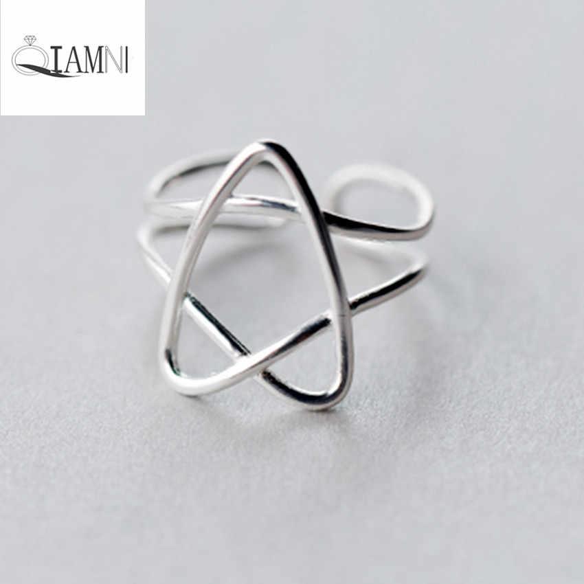 QIAMNI модное уникальное кольцо с открытым пальцем ювелирные изделия в стиле минимализма для женщин девочек Рождественский подарок очаровательный