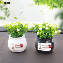 new  car decoration Boutique ornaments artificial flowers creative resin potted plastic green plant gift toys