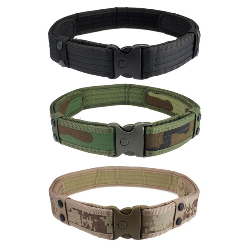New Men Sport Belts Luxury Woodland Camo Waistband Tactical Hunting Outdoor Field Sports Belt