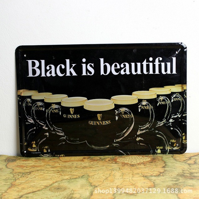 hd vintage metal signs black is beautiful tin signs home decor house office restaurant