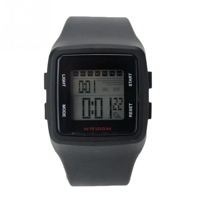 4*4cm Square New Hot Square Face Silicone Band Digital Watch LED Watches Wrist W