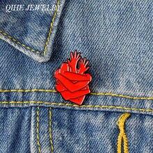 Qihe ювелирные изделия Анатомическое Сердце pin человеческой