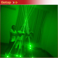 1pcs Green Mini Dual Direction Green Laser Sword For Laser Man Show 532nm 200mW Double Headed Wide Beam Laser Party Supplies