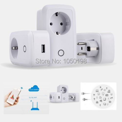Smart WiFi Socket Plug Remote Control AC Power Repeater Switch for Android iOS