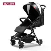 TEKNUM Brand Baby Stroller 2 in 1 Fold Portable Traveling Baby Cart Carriage Buggy folding Stroller Baby Pram high landscape
