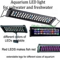 36 48 Hi Lumen LED freshwater plant saltwater marine Aquarium Fish tank LED Aquatic pet light lighting fixture lamp
