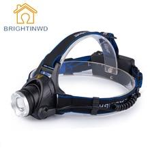 T6 Reflector Brillante Estupendo Faros Lámpara Noche Luces de Pesca Zoom Luz Mineros Caza Recargable Tiros Largos Linterna