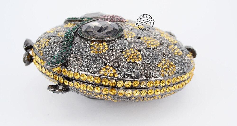 Nuevo Cristal de Lujo de estilo Búho Del Partido Embragues Bolso de Noche Bolso