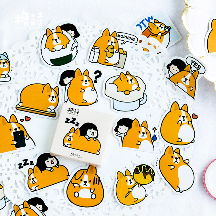 Japanese Diary Journal Dog Cute Calendar Paper Stickers Stationery Scrapbooking Teacher School Supplies calendar mysteries 12 december dog