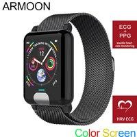 Smart Watch E04 ECG PPG Heart Rate Smart Bracelet Sleep Monitor Fitness Tracker Blood Pressure Band Color Screen Multisport Band