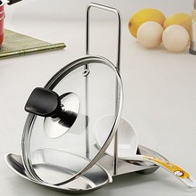 Stainless Steel Pan Pot Cover Lid Rack Stand Spoon Rest Stove Organizer Storage Soup Rests Kitchen Tool-big size