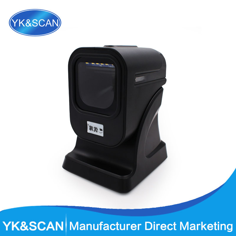 High Quality 2D Desktop Omnidirectional Barcode Scanner YK 6200 Free Shipping For POS And Inventory With