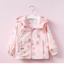 LILIGIRL Kids Cute Clothes 2018 Baby Girls Canvas Cartoon Jackets for Children Hooded Bunny Jacket Coats Windbreaker Clothing
