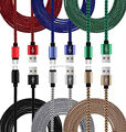 200pcs/lot 3m 2m 1m 10FT alluminium Alloy Fast Charger braided usb data charger cable for iphone 5 5s 6 6s for ipad mini ios 8 9