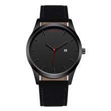 2018 Fashion Large Dial Military Quartz Men Watch Leather Sport watches Complete Calendar Clock Wristwatch Relogio Masculino T75 цена